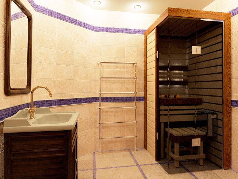 Баня в ванной
