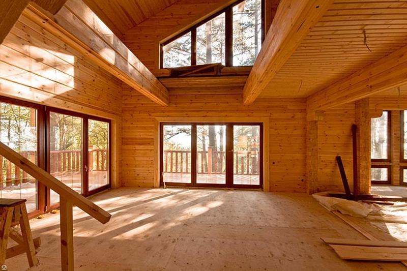 Качественное остекление деревянного дома