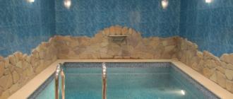 Бассейн в подвале частного дома