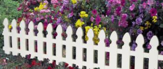 Декоративный забор для дачи + фото