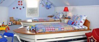 Детская мебель для двух мальчиков + фото