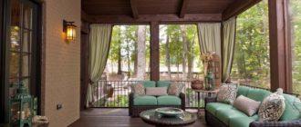Интерьер веранды в загородном доме + фото