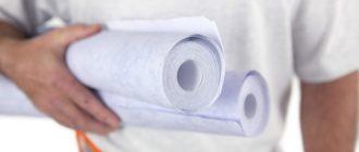 Как клеить бумажные обои на потолок