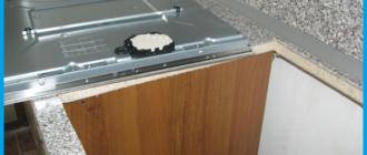 Установка варочной панели в столешницу над духовым шкафом своими руками
