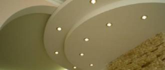 Монтаж многоуровневого потолка натяжного и гипсокартонного