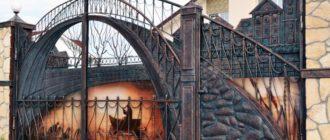 Красивые ворота + фото