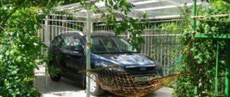 Навес для машины из поликарбоната