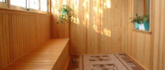 Отделка балкона вагонкой + фото