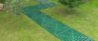 Пластиковая плитка для дорожек на даче
