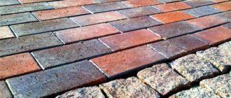 Состав раствора для тротуарной плитки