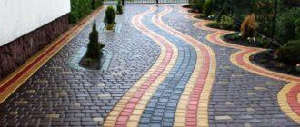 Варианты укладки тротуарной плитки + фото