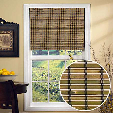 Бамбуковые шторы в интерьере + фото