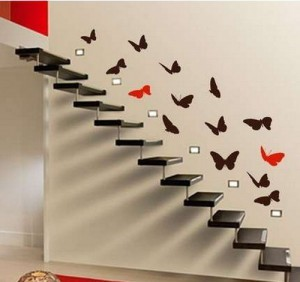 Декор стен бабочками своими руками + фото