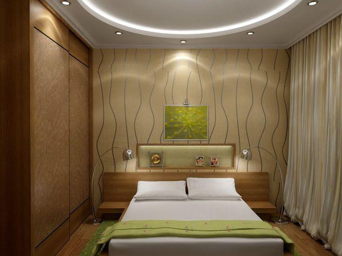 Дизайн маленькой спальни 9 кв м +фото