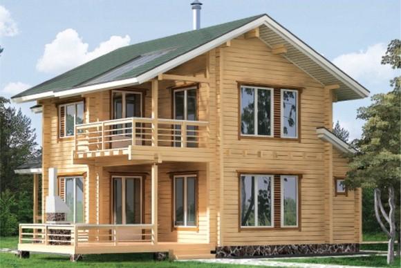 Дом из клееного бруса 200 кв. м