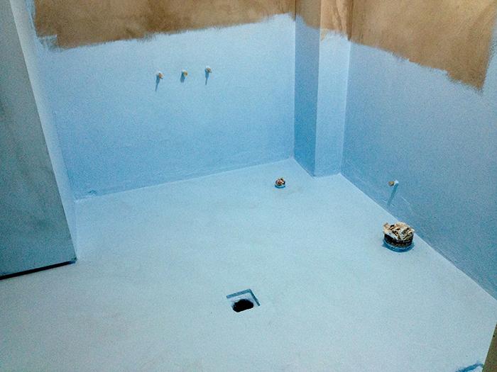 Гидроизоляция ванной мастиками