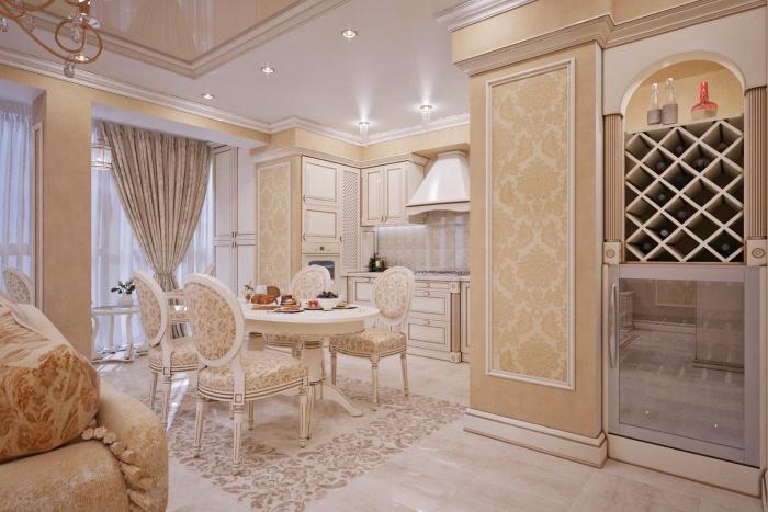 Гостиная в классическом стиле + фото