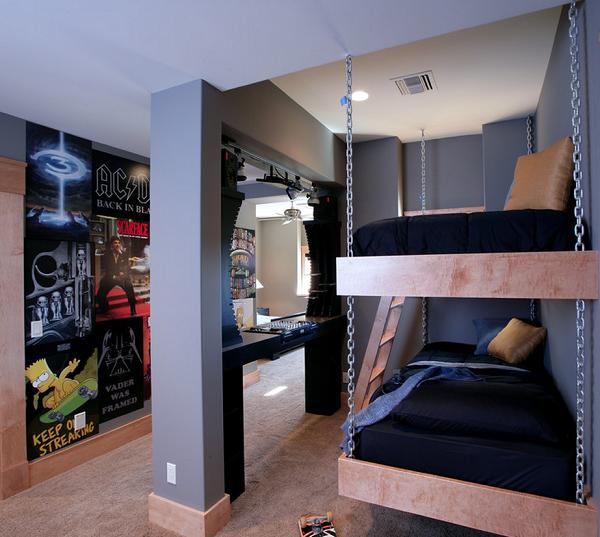 Дизайн комнаты для подростка мальчика + фото