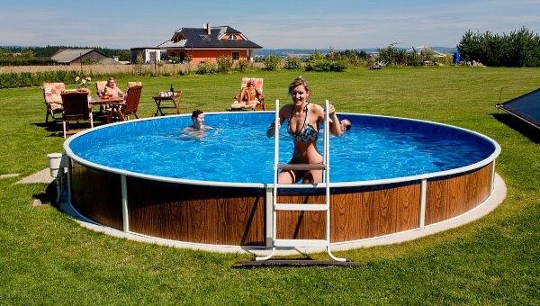 Надувной бассейн для дачи