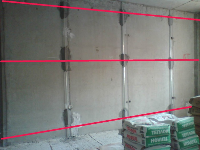 Как выставить маяки под штукатурку стен + видео
