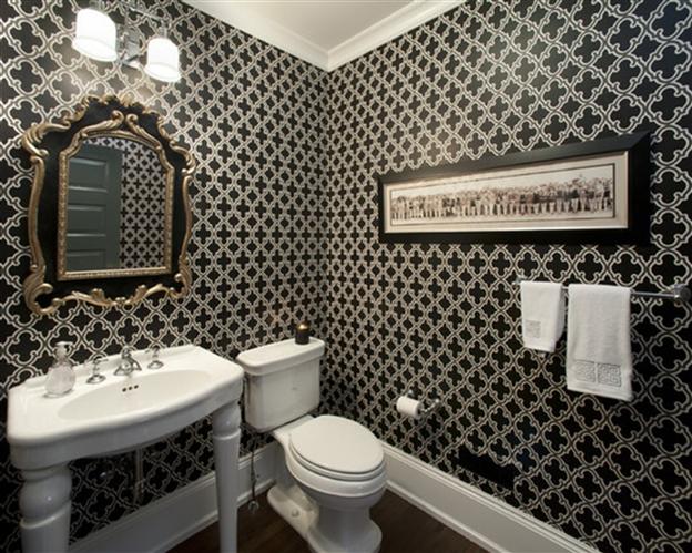 Обои для туалета в квартире + фото