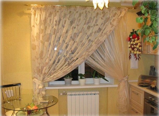 Красивые шторы на кухню + фото