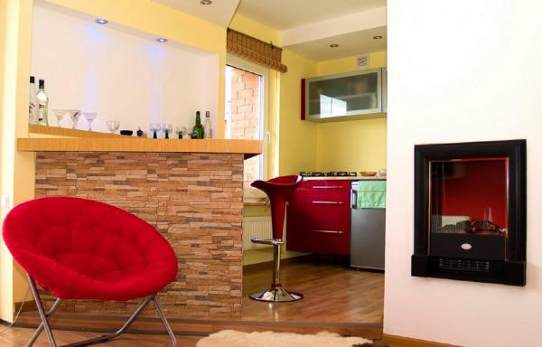 Кухня-гостиная в хрущевке + фото