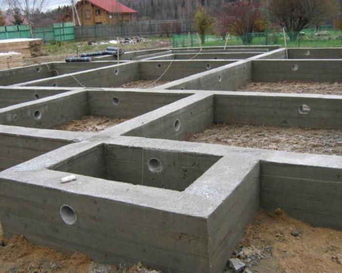 Фундамент дома ленточный 6х6