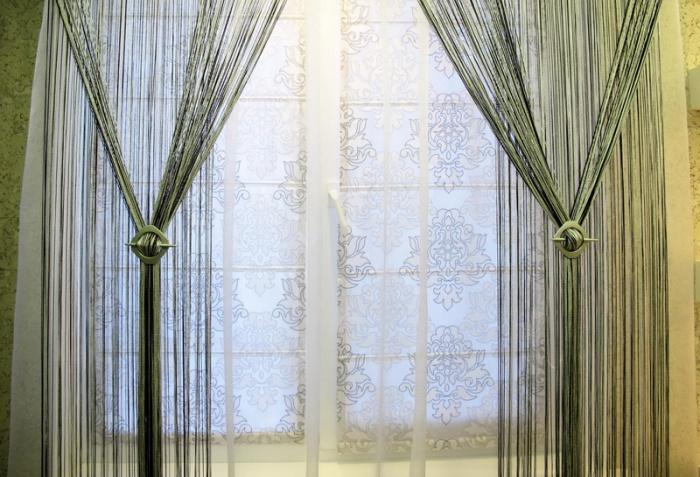 Нитевые шторы в интерьере + фото