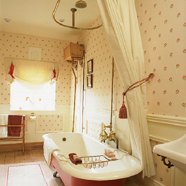 Обои для ванной комнаты + фото
