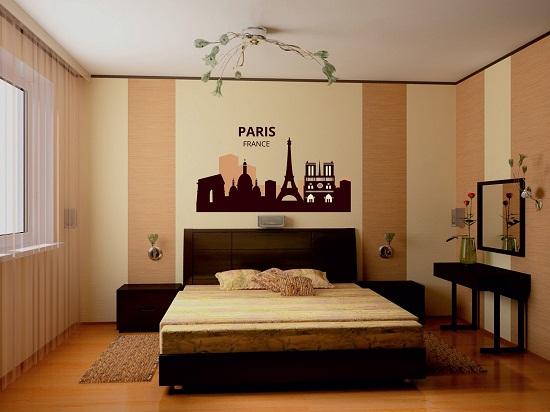 Обои в дизайне спальни+фото