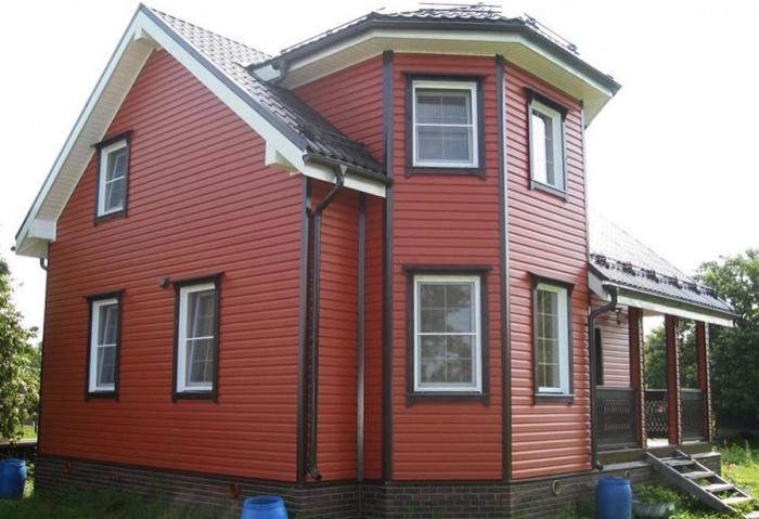 Отделка фасада частного дома сайдингом + фото
