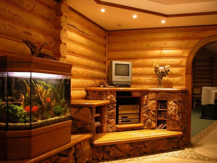 Отделка стен деревом в интерьере + фото