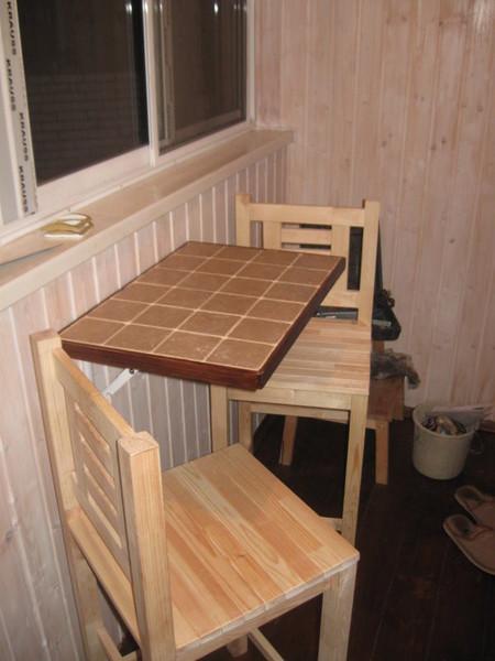 Откидной столик на балкон