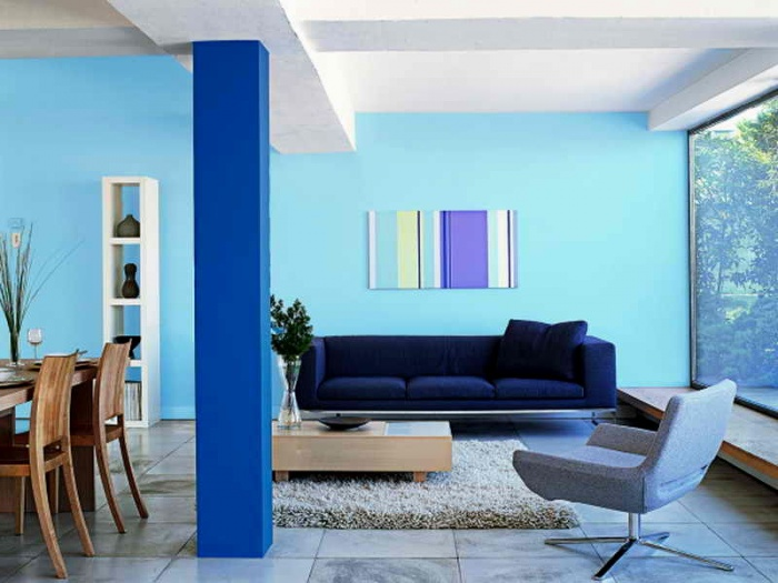 Оттенки синего в интерьере + фото