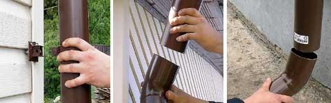 Пластиковый водосток крыши своими руками