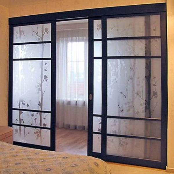 Стеклянные двери раздвижные