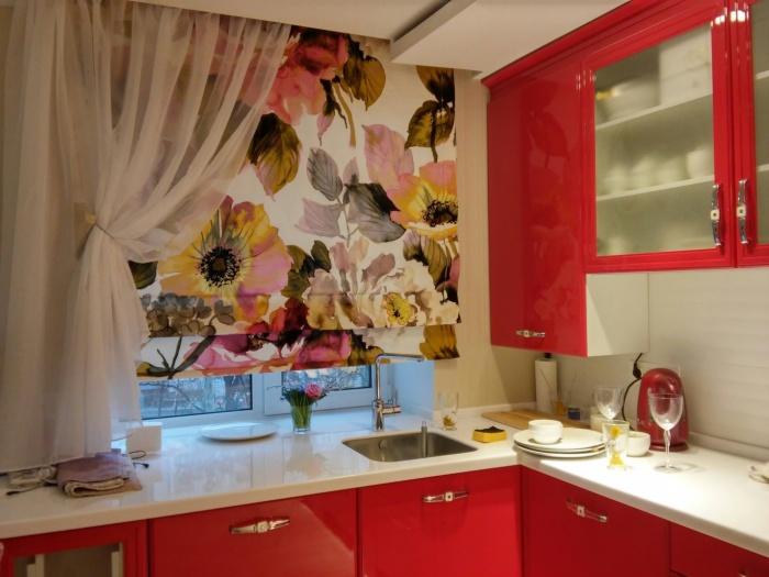 Шторы для современной кухни + фото