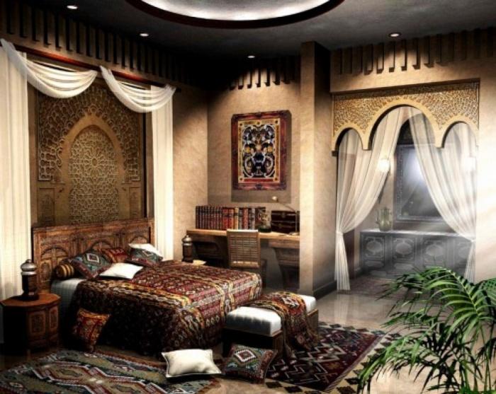 Спальня в восточном стиле + фото