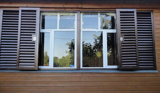 Ставни на окна металлические