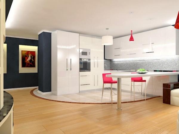 Дизайн кухни в стиле минимализм + фото