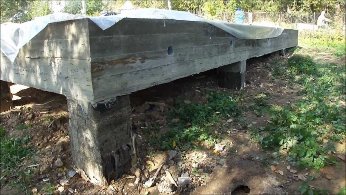 Столбчатый фундамент для бани своими руками