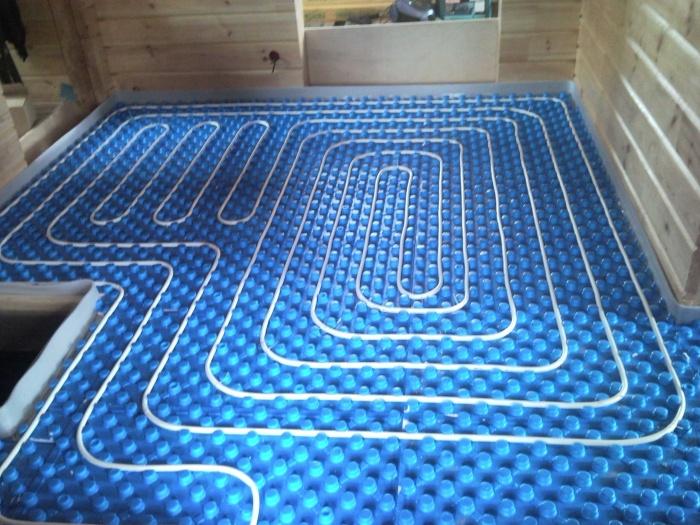 Водяной теплый пол в деревянном доме