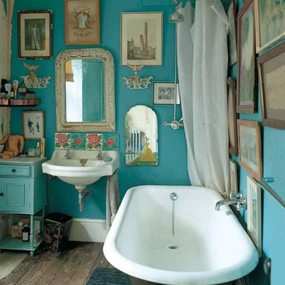 Ванная комната в бирюзовом цвете + фото