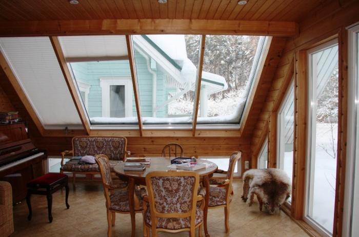 Веранда в деревянном доме + фото