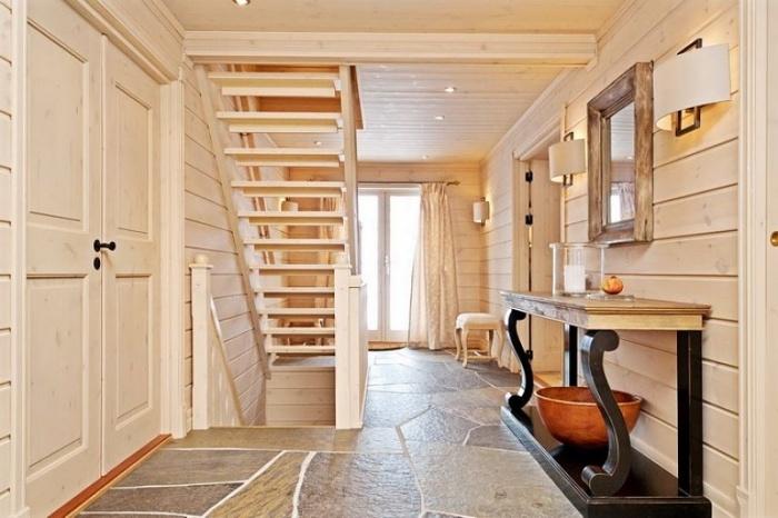 Внутренняя отделка деревянного дома + фото