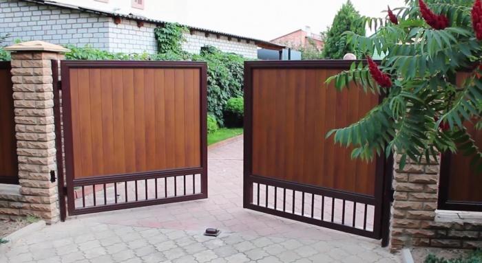 Ворота своими руками + чертежи, фото и видео